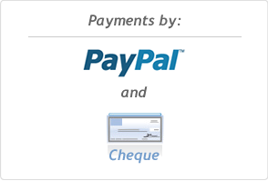 Payments By PayPal and Cheque